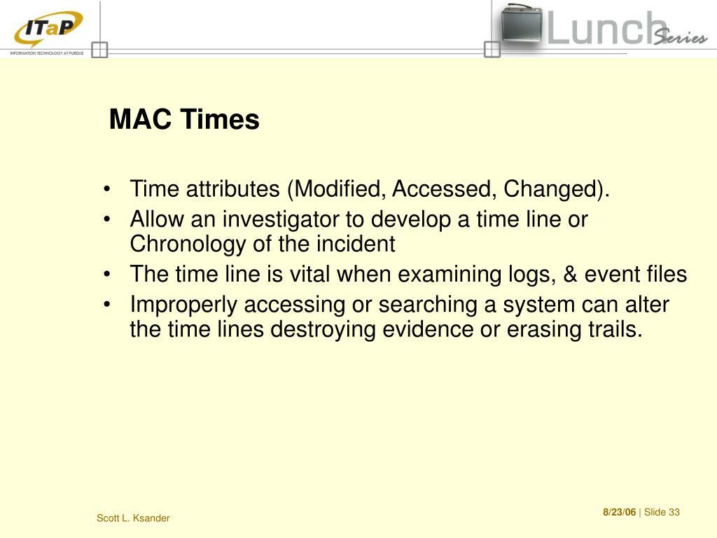 MAC Times