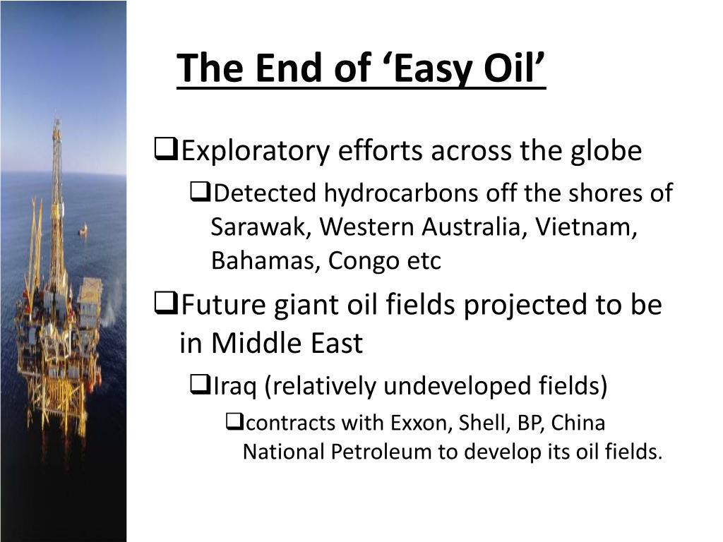 The End of 'Easy Oil'