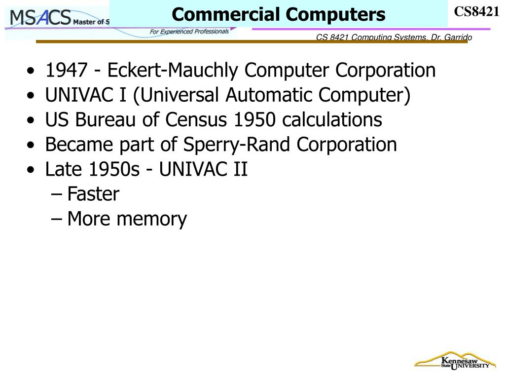 Commercial Computers
