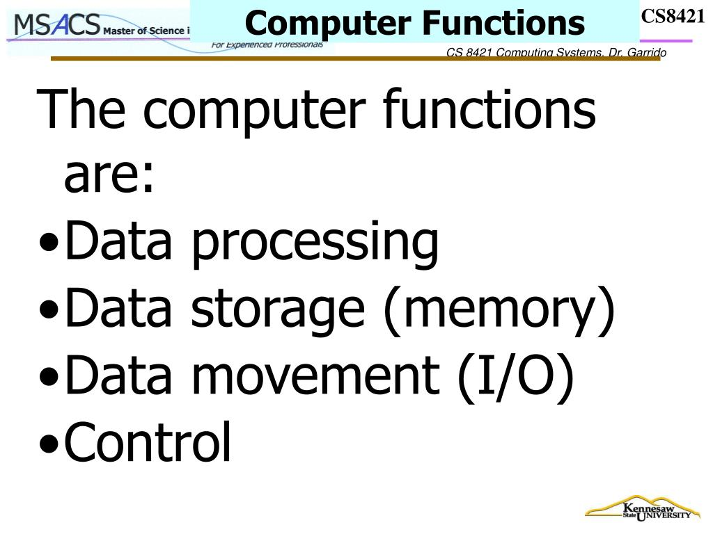Computer Functions