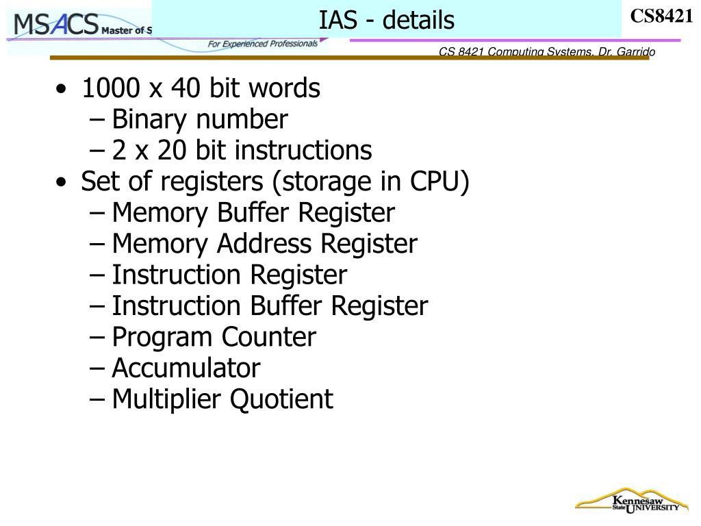IAS - details
