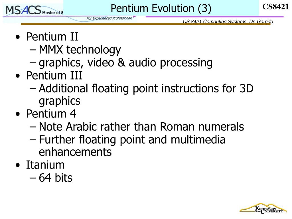 Pentium Evolution (3)