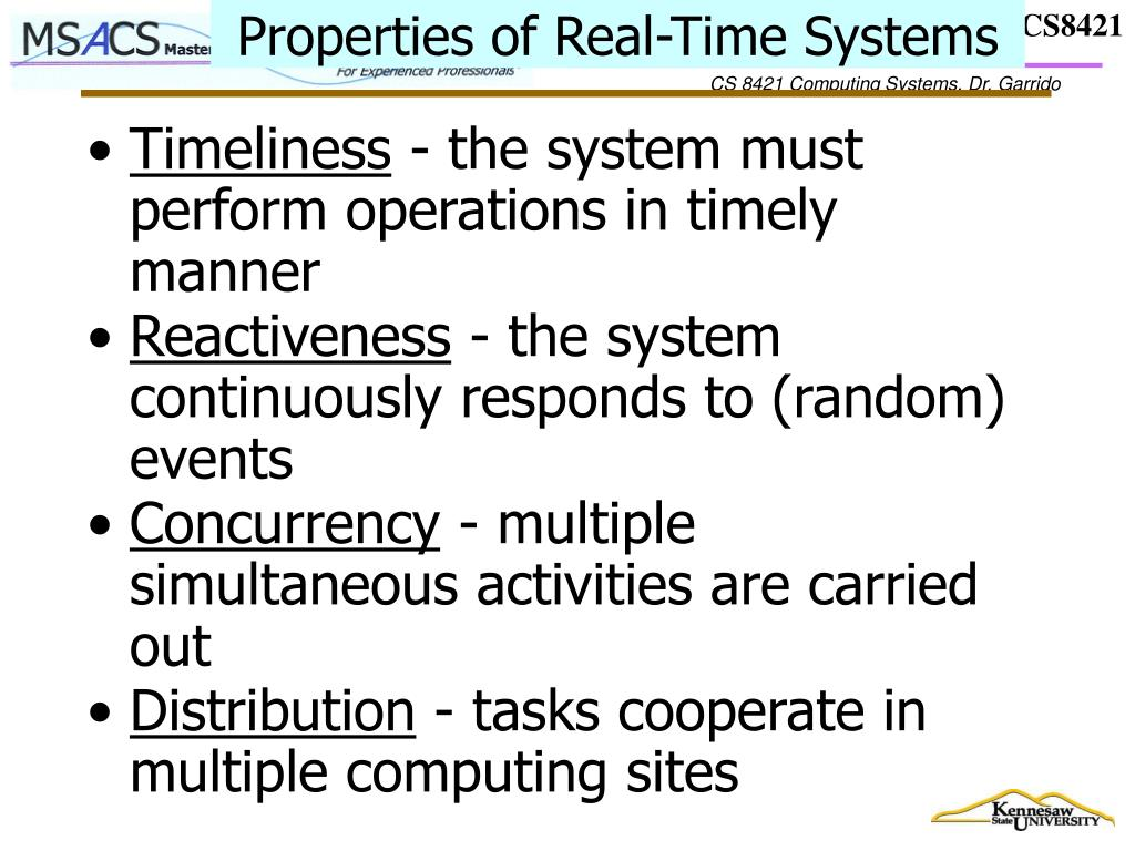 Properties of Real-Time Systems