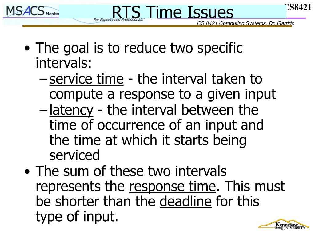 RTS Time Issues