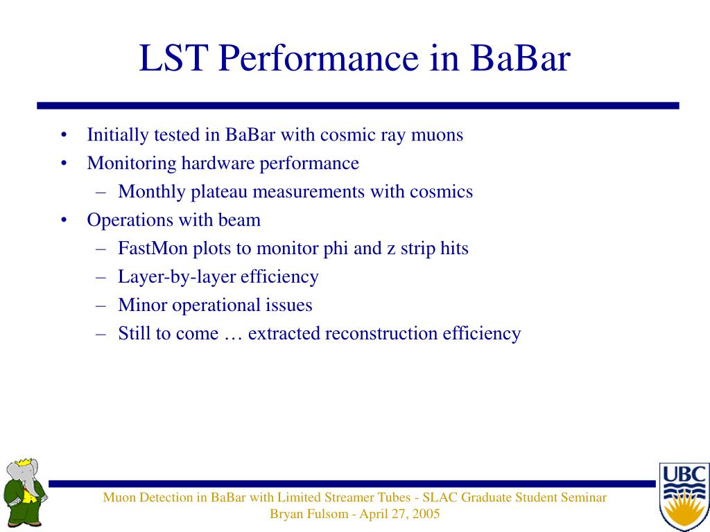 LST Performance in BaBar