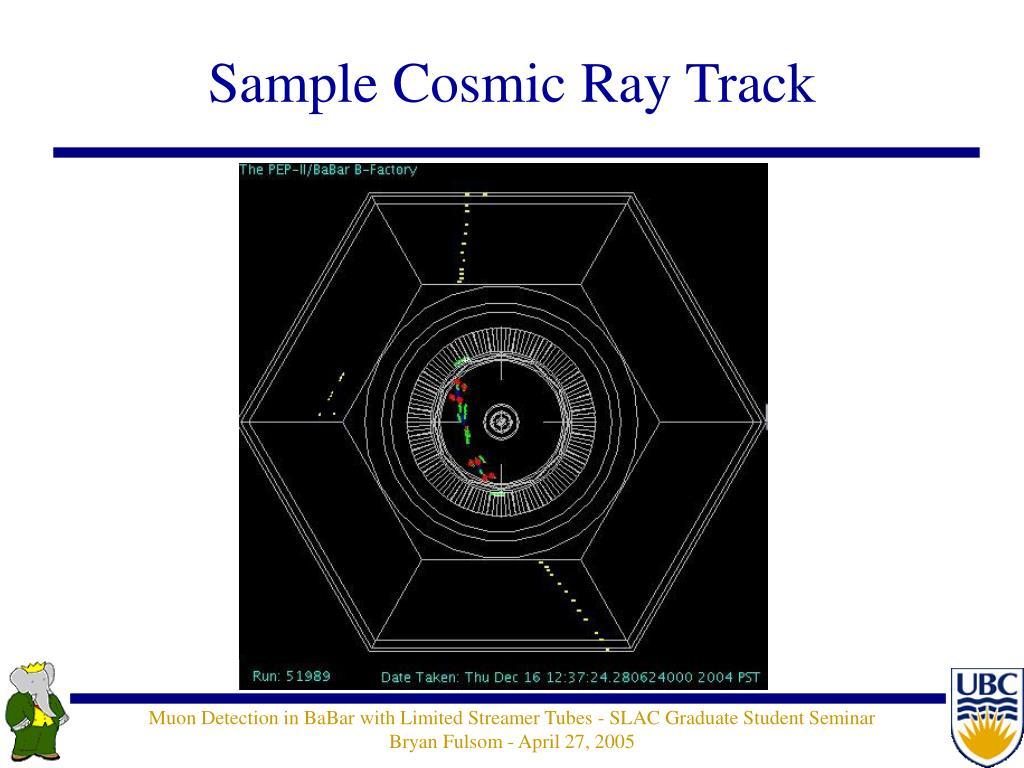 Sample Cosmic Ray Track