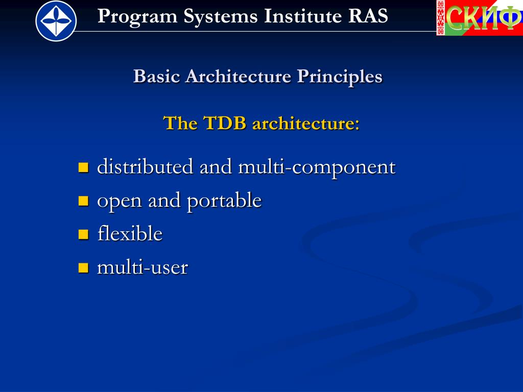 Basic Architecture Principles