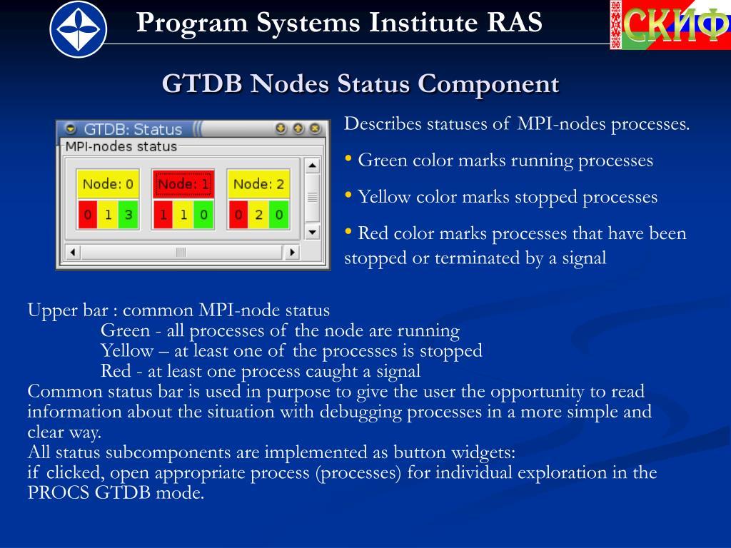 GTDB Nodes Status Component