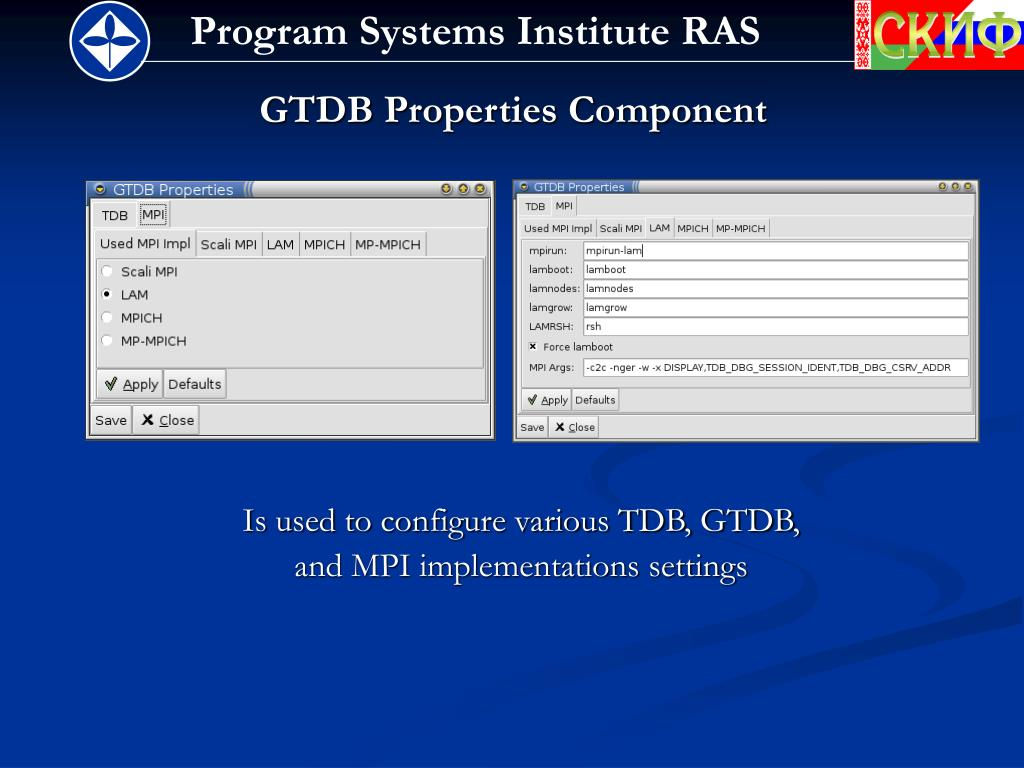GTDB Properties Component