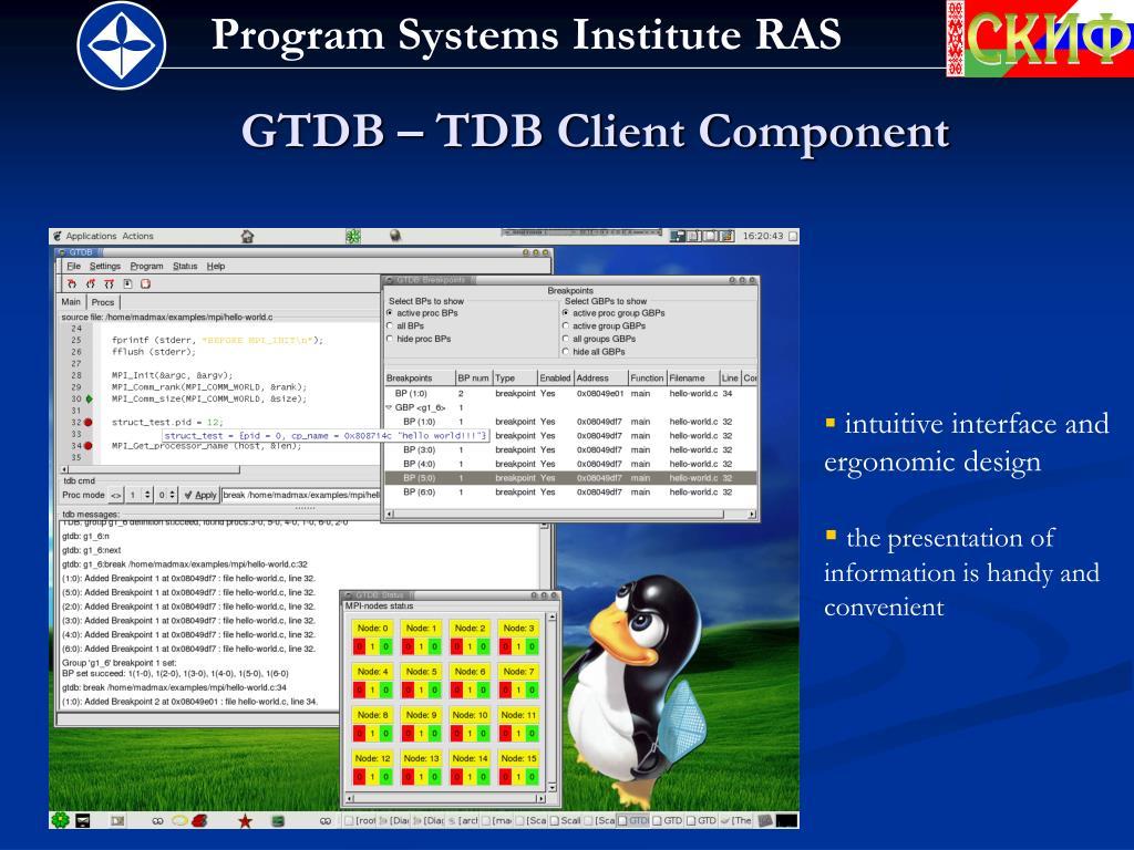 GTDB – TDB Client Component