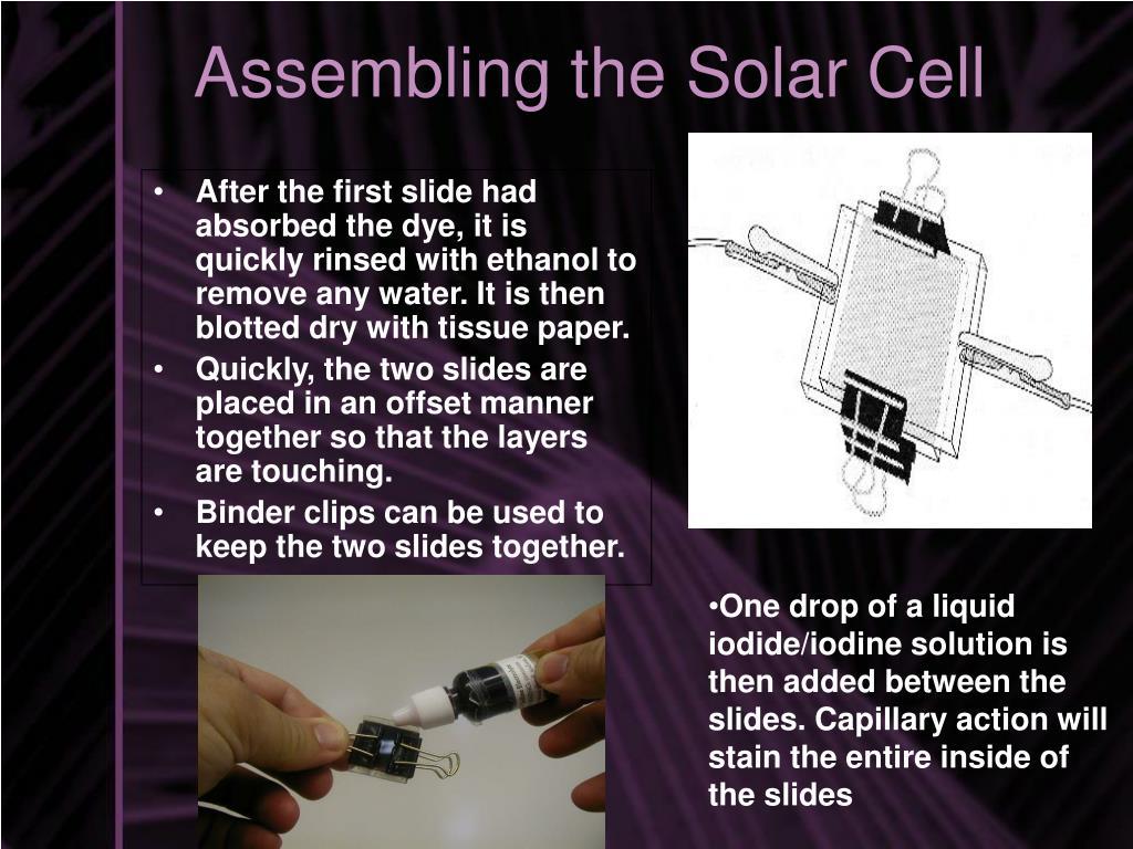 Assembling the Solar Cell