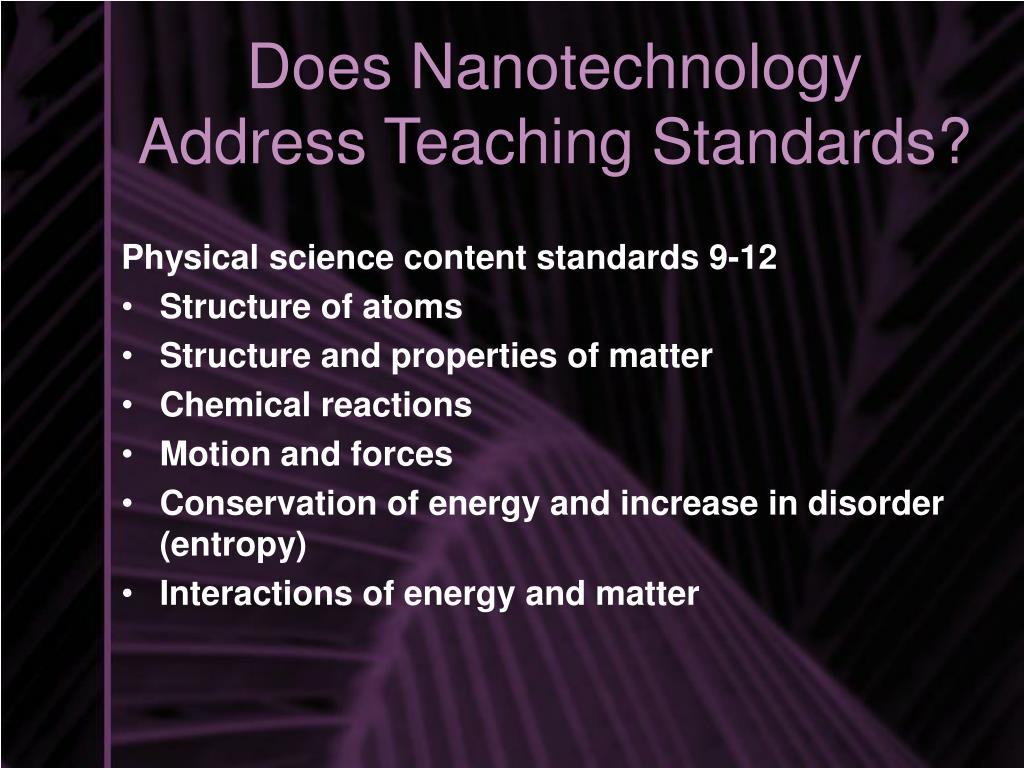 Physical science content standards 9-12