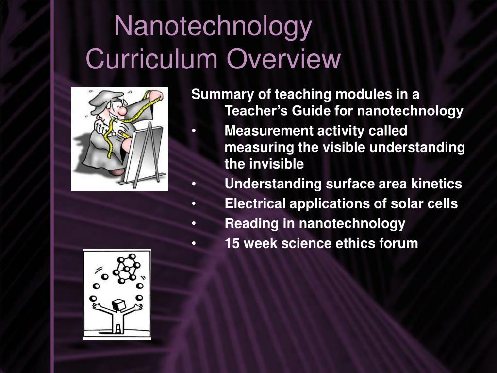 Nanotechnology Curriculum Overview