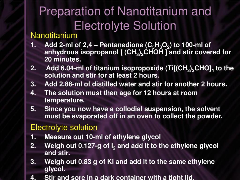 Nanotitanium