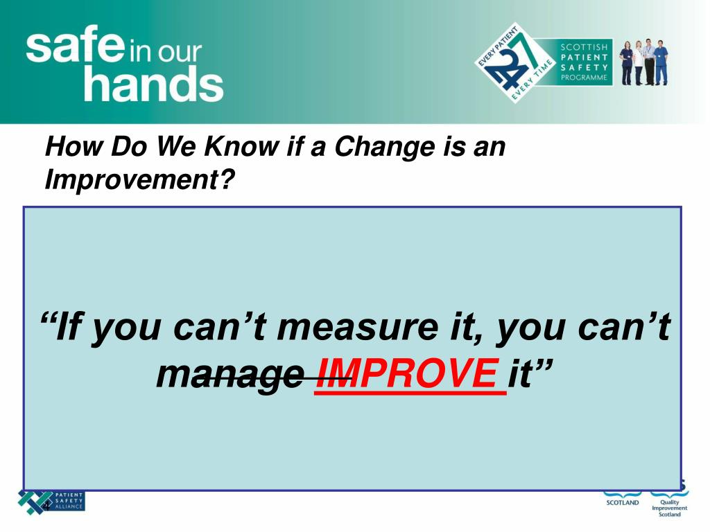 How Do We Know if a Change is an Improvement?