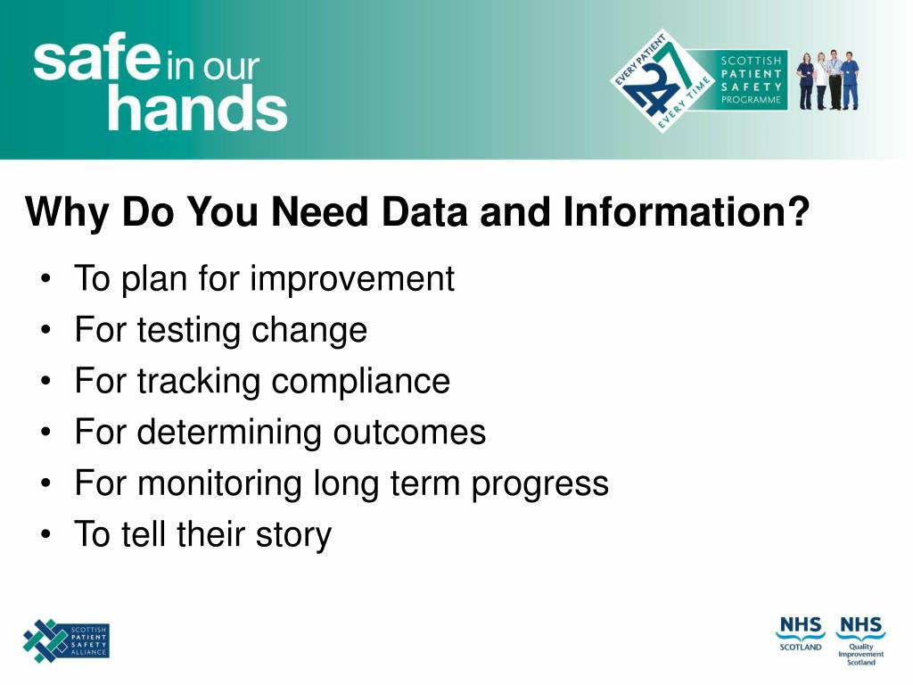Why Do You Need Data and Information?