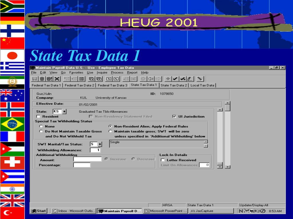 State Tax Data 1