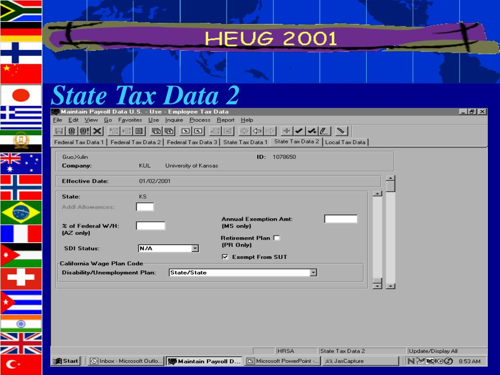 State Tax Data 2