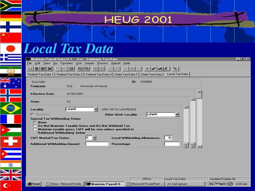 Local Tax Data