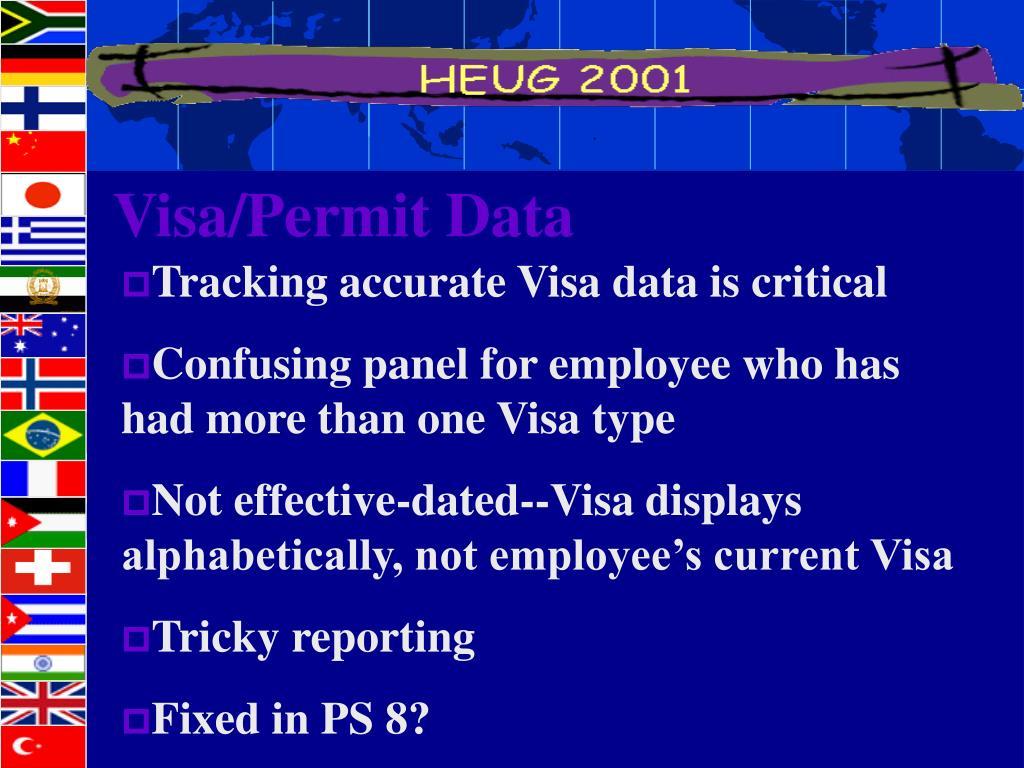 Visa/Permit Data