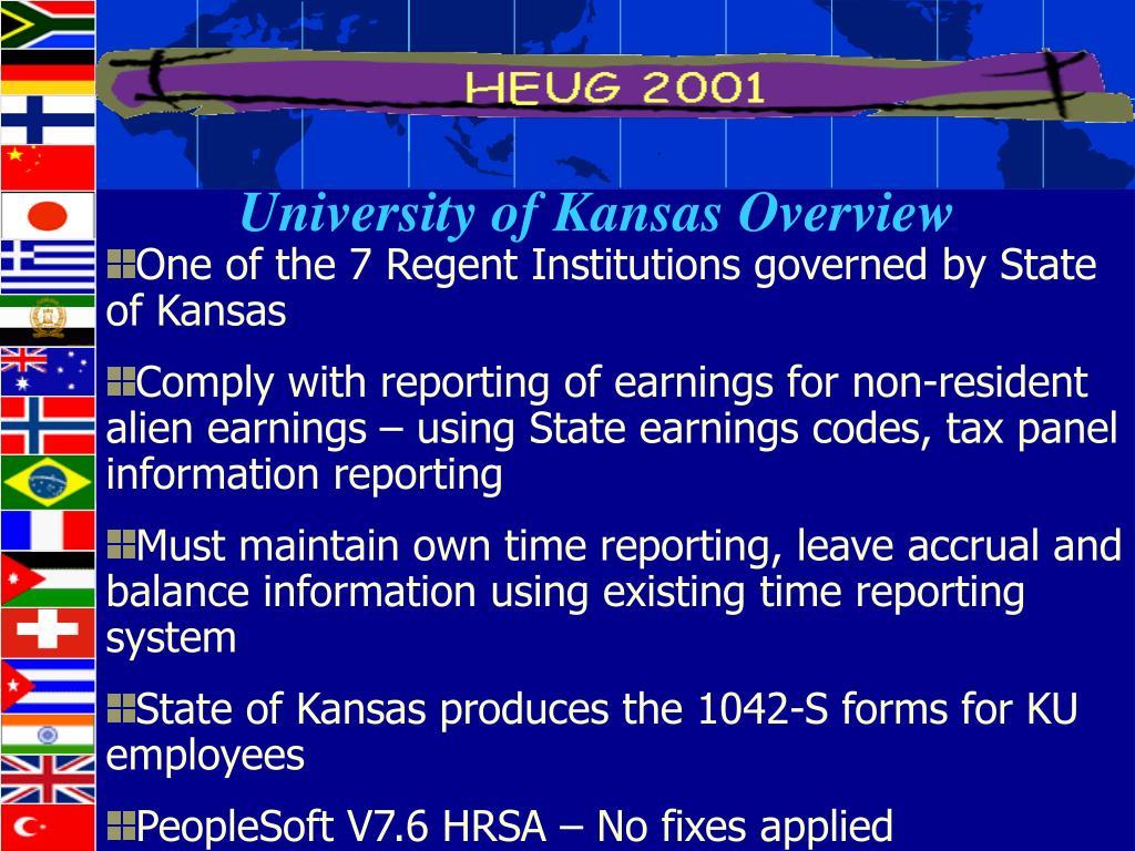 University of Kansas Overview