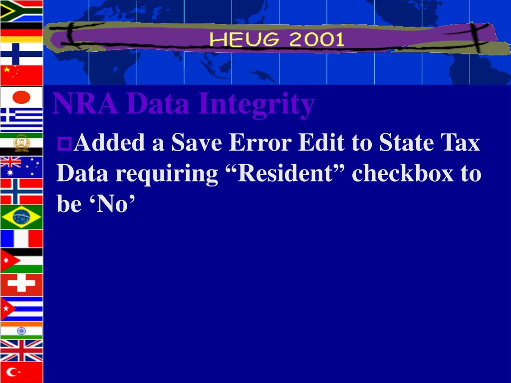 NRA Data Integrity