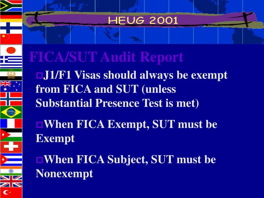 FICA/SUT Audit Report