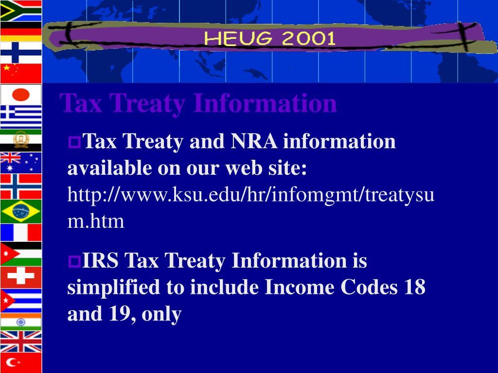 Tax Treaty Information