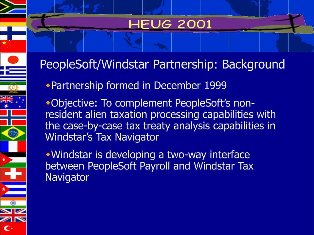 PeopleSoft/Windstar Partnership: Background