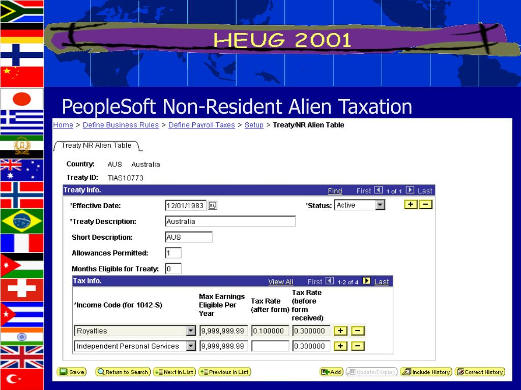 PeopleSoft Non-Resident Alien Taxation