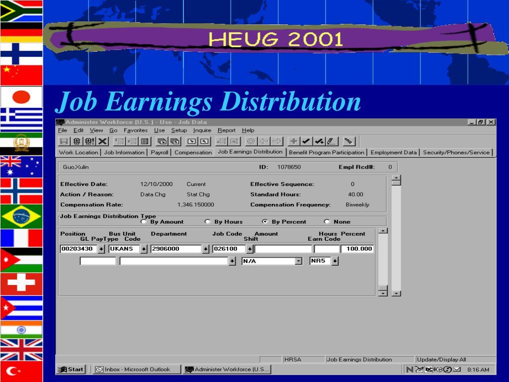 Job Earnings Distribution