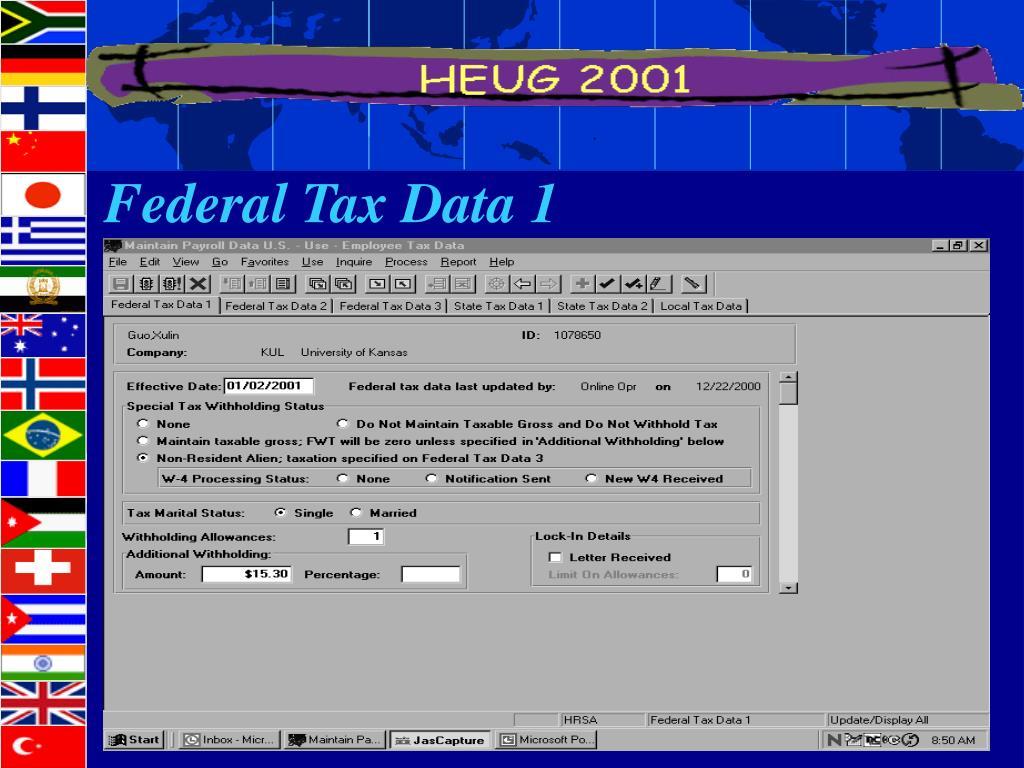 Federal Tax Data 1
