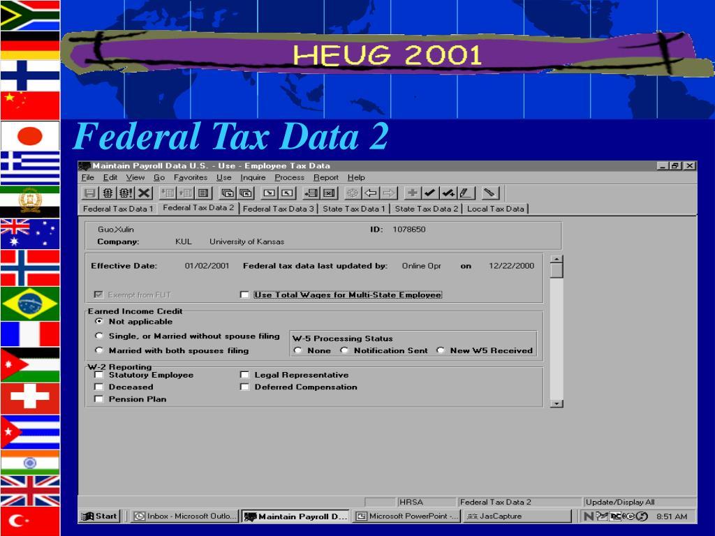 Federal Tax Data 2