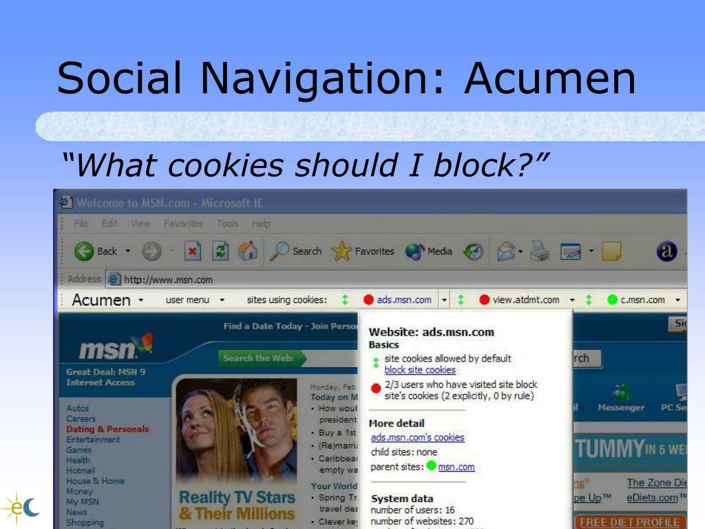 Social Navigation: Acumen