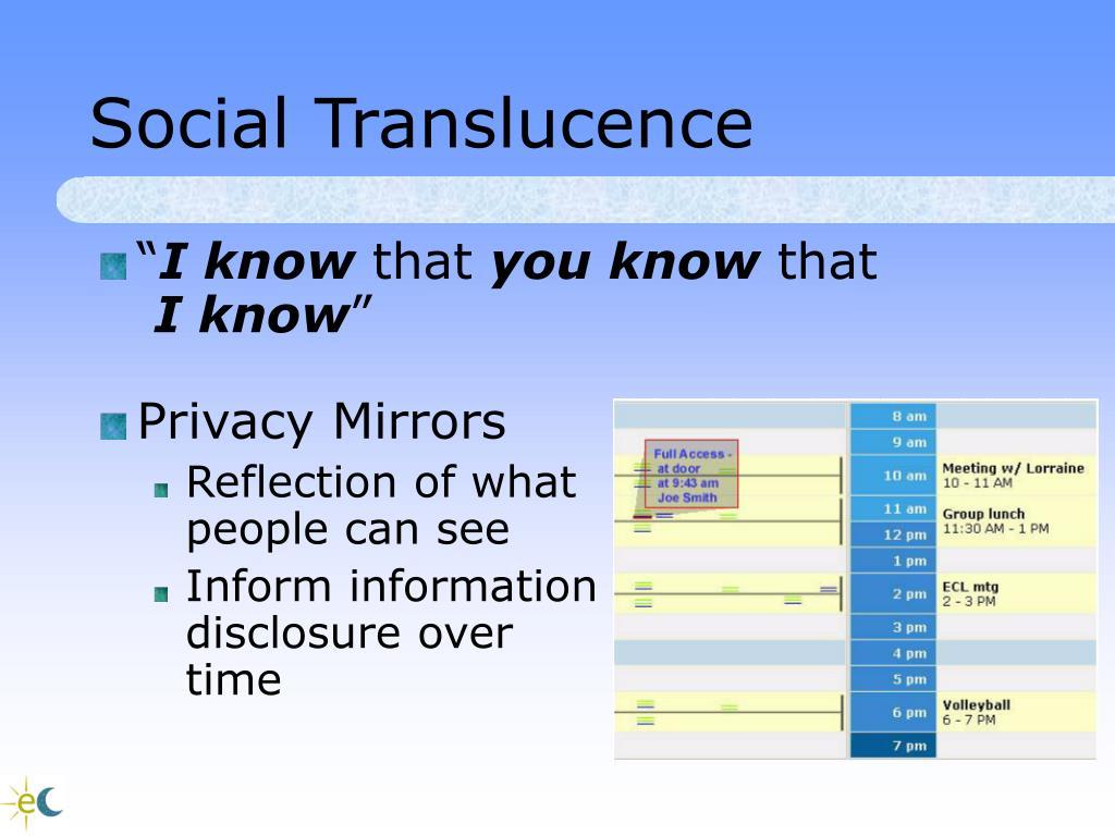 Social Translucence