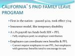 california s paid family leave program