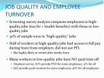 job quality and employee turnover