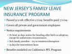 new jersey s family leave insurance program