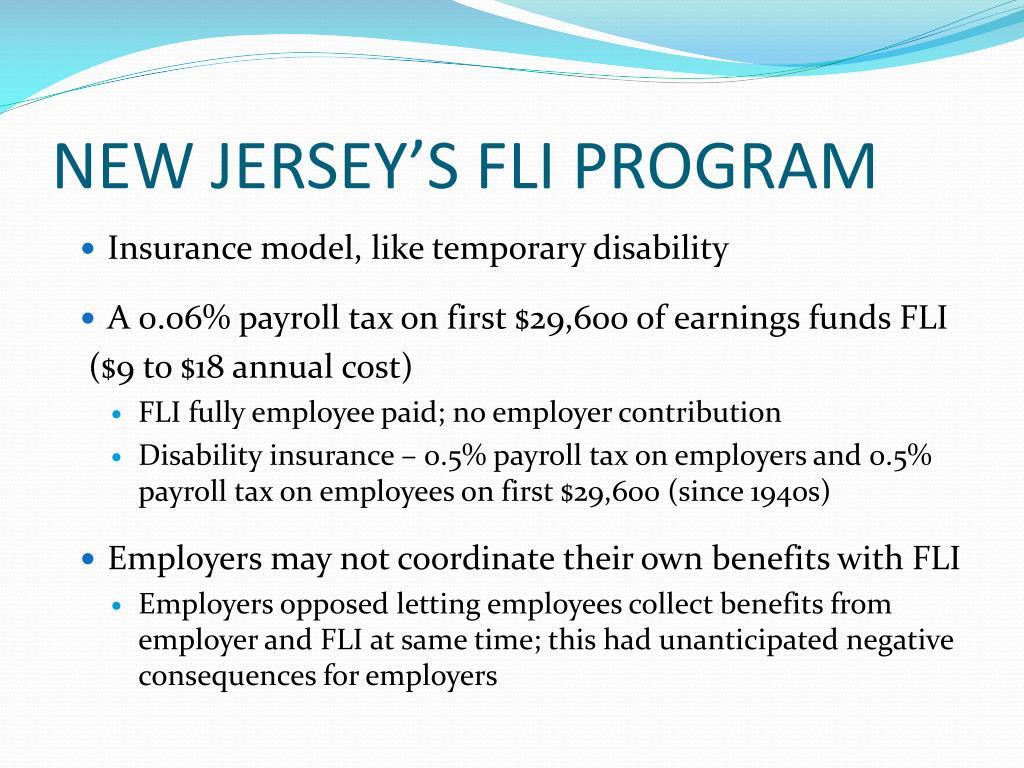 NEW JERSEY'S FLI PROGRAM