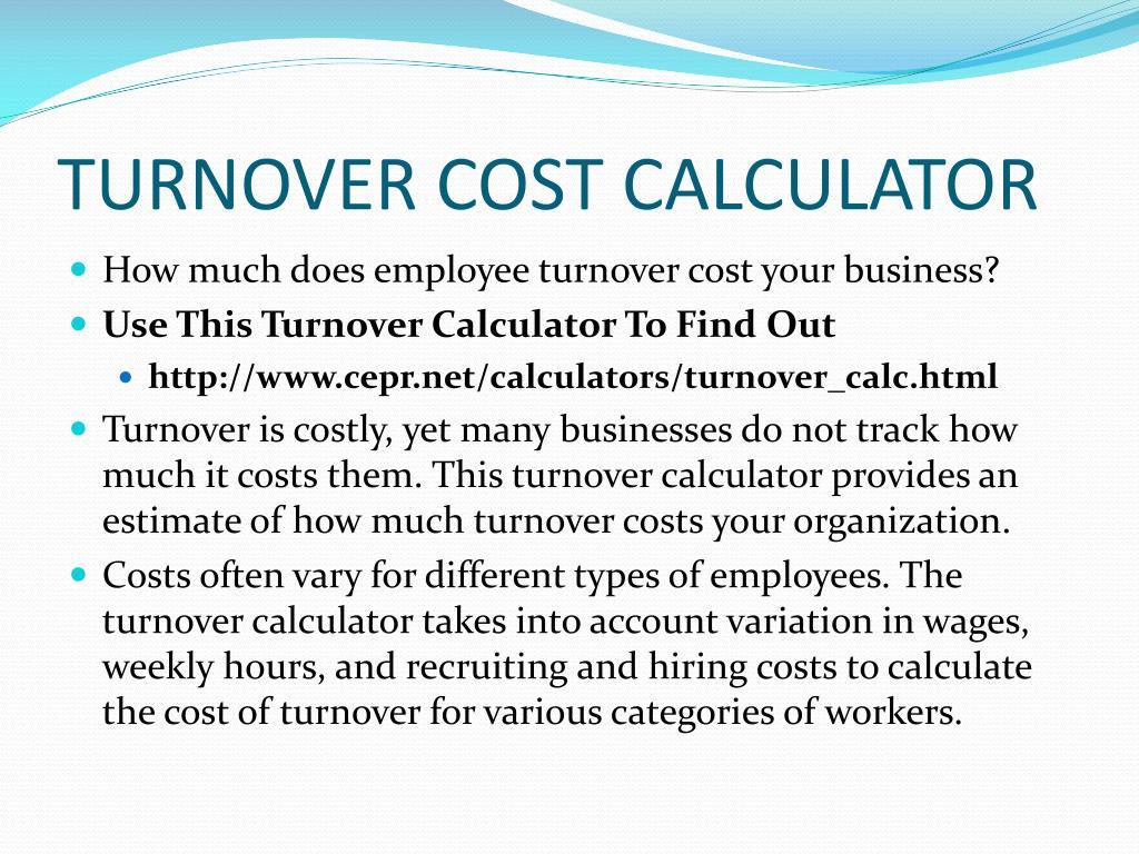 TURNOVER COST CALCULATOR