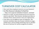 turnover cost calculator