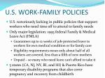 u s work family policies