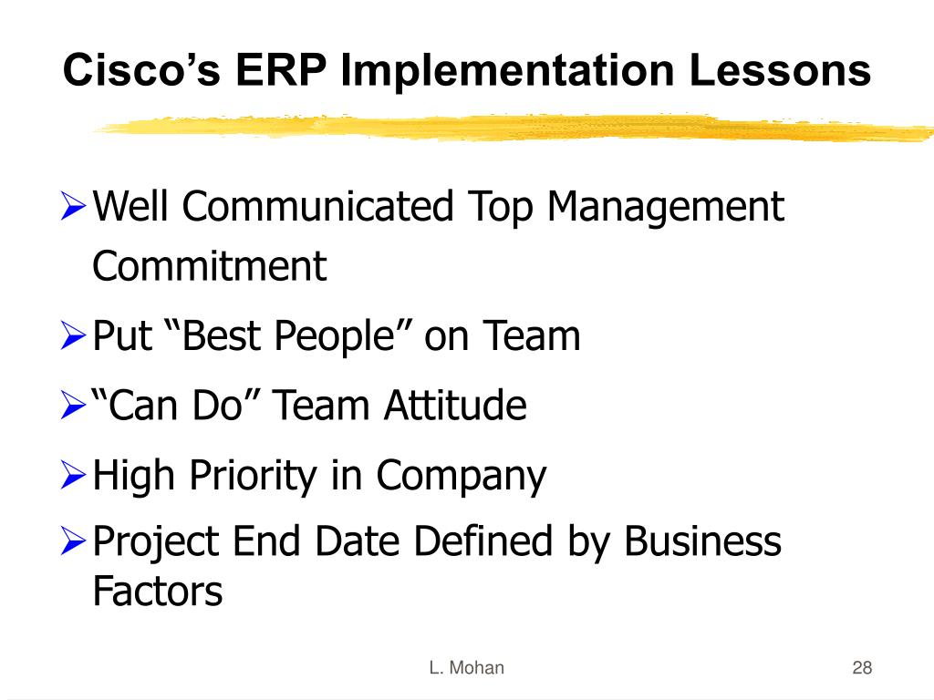 Cisco's ERP Implementation Lessons