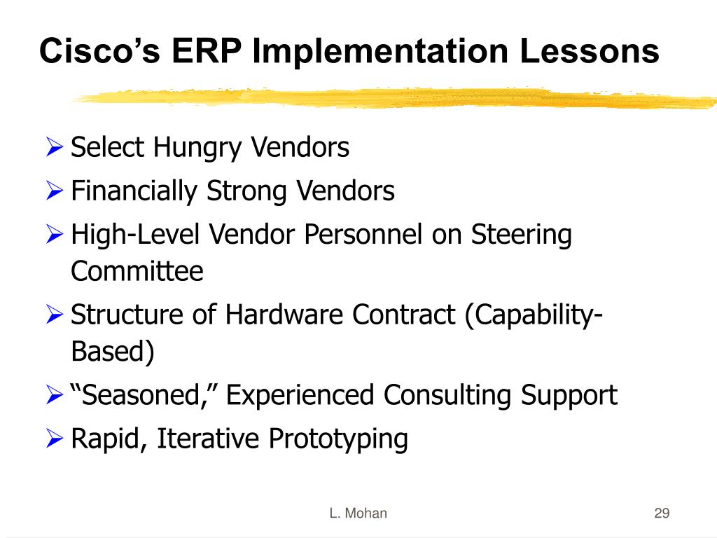 Cisco's ERP Implementation Lessons