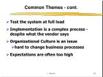 common themes cont