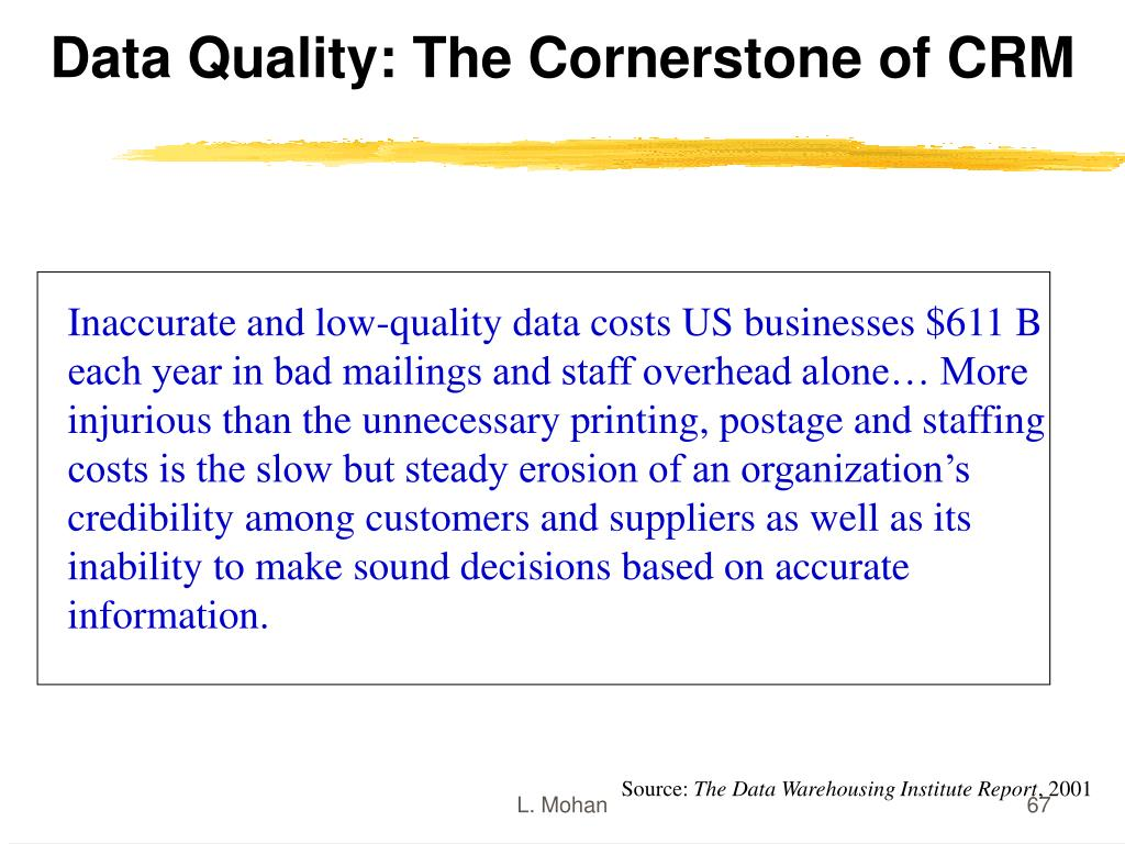 Data Quality: The Cornerstone of CRM