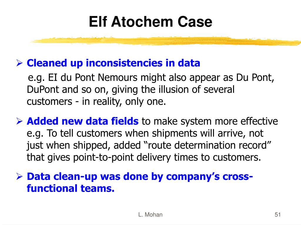 Elf Atochem Case