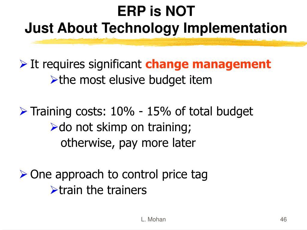 ERP is NOT