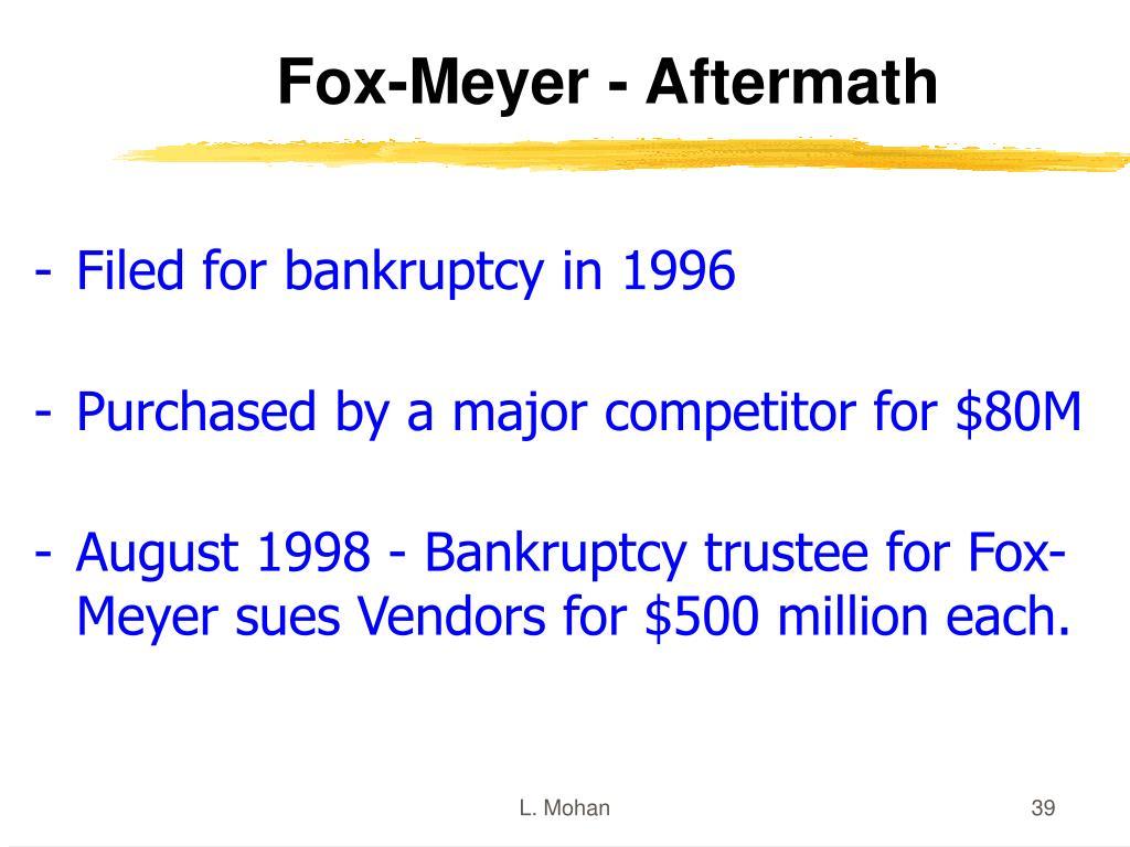 Fox-Meyer - Aftermath