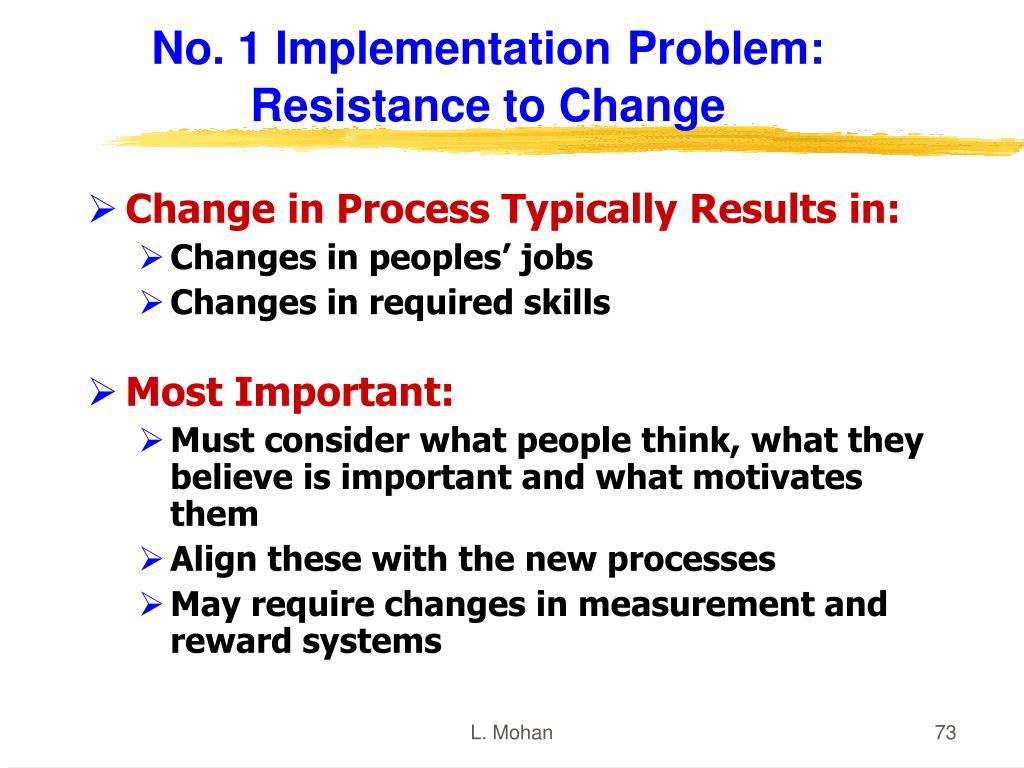 No. 1 Implementation